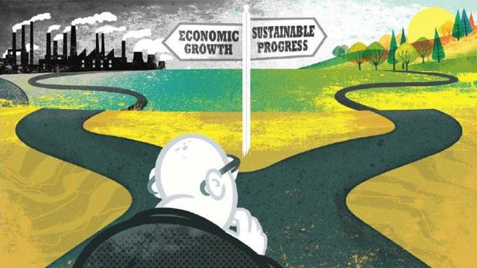 Tiga terminologi ; Growth, Adaptive Growth dan Degrowth